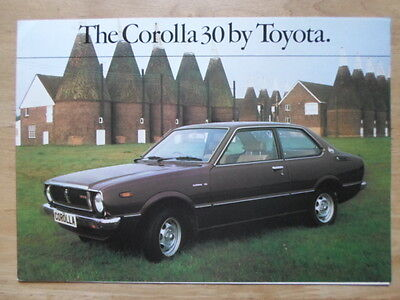 TOYOTA COROLLA 30 1978 UK Mkt Sales Brochure