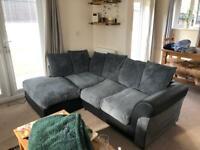 Right corner grey sofa
