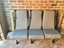 Removable rear quick release triple seat.