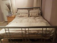 Free double bed frame (plus memory foam mattress if needed)
