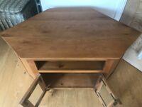 Corner TV Unit Solid Oak - excellent condition