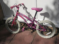 """Child's Apollo 'Popstar' Bike - 16"""" wheels, suitable for 5-7 year old"""