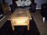 Tv unit coffee table single draw cupboard