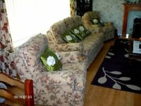 3 SEATER SOFA +2 ARM CHAIRS AS NEW CONDITION