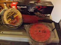 EINHELL2000 wt ANGLE GRINDER and 5 new blades