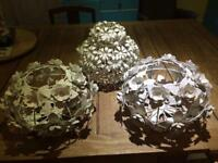 Ceiling Lampshades, floral, metal, vintage style