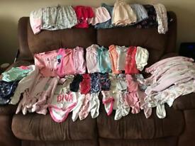 3-6 month girls large clothes bundle