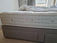 King Size divan bed, Firm 3500 Pocket Sprung mattress, 4 storage drawe
