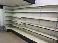 10. 35m of Arneg Retail Shelving, Wall units plus a Gondola