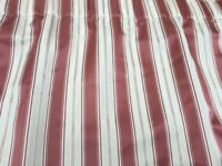 Curtains in a quality fabric, striped and lined.