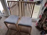2 x Ikea Dining Chair (Brand new) NORRNÄS Oak/isunda grey