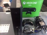 500gb black xbox one with controller and cables