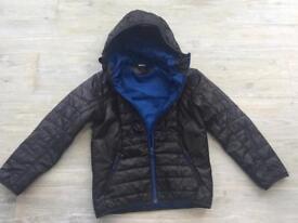 Quechua Boys black padded jacket age 8-9