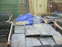 "Reclaimed Penrhyn Welsh Heather Blue slates 22""; x 12"";, large quantity"