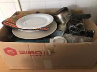 Box of kitchen bits