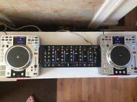 Denon DJ x2 with numark mixer