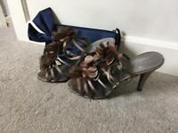 Ladies Heels & Handbag (Size 7)