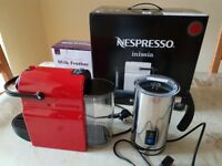 Nespresso Inissa plus Andrew James Frother Nearly New