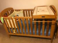 Baby cot and baby changing