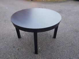 Ikea Round Black Extending Table FREE DELIVERY 243