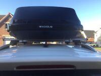 Exodus 360l car roof box and roof bars