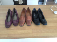 3 pairs of ladies quality shoes size 7 and a half