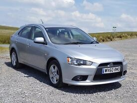 2010 60 Mitsubishi Lancer 2.0 DI-D GS2 Sportback. 68k, New MOT, Full History, Serviced, 6-speed