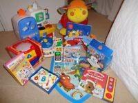 Baby / toddler toy bundle; Lotty rocker, Musical Drum, Little Tikes Play Kitchen Vtech Driver + more