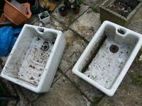 Ceramic sink garden pots