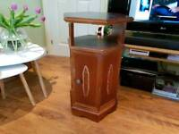 Vintage Retro Side Table Hall Table Plant Stand Bathroom Bedroom Cabinet