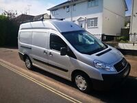 2010 Fiat Scudo LWB, High roof, Silver, removable rear seats, 74589 miles
