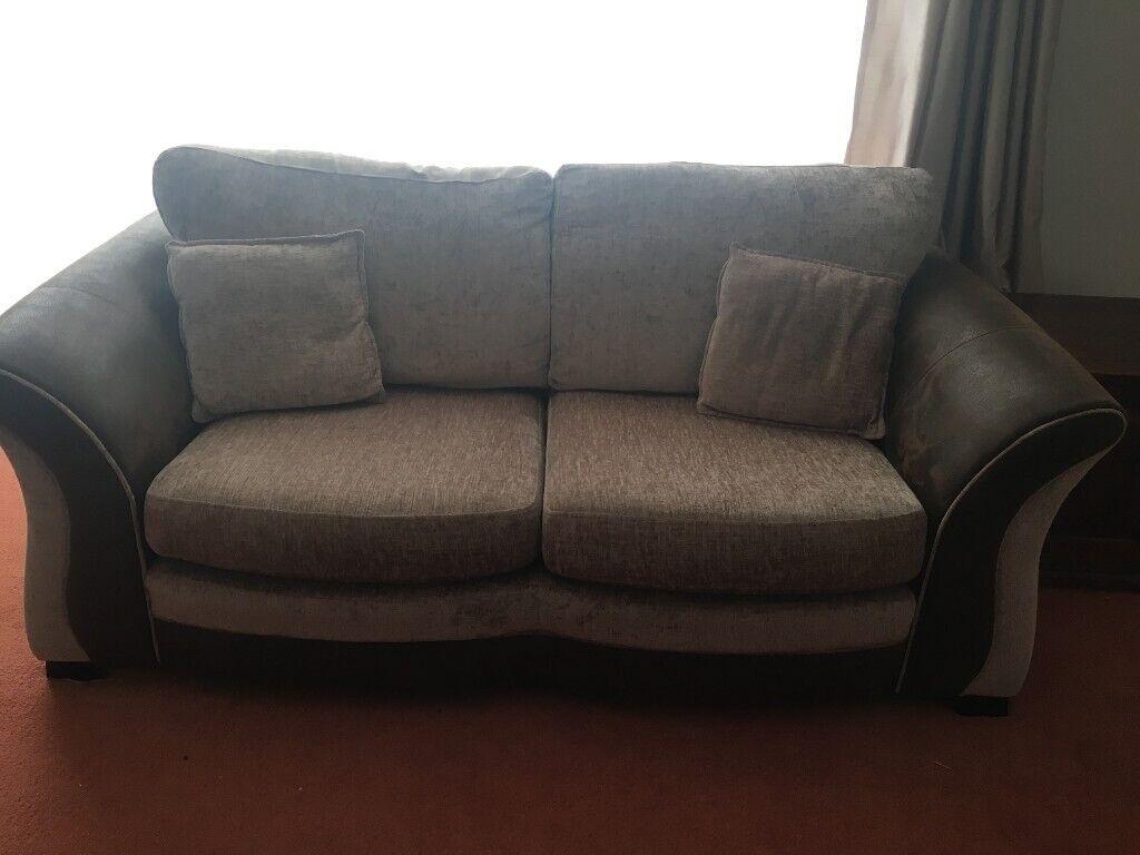 Large 2 seater sofa & swivel chair | in East Kilbride ...