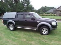 Ford Ranger XLT, 4WD, 2009, low mileage,good condition, MOT May, load liner, canopy, tow bar.