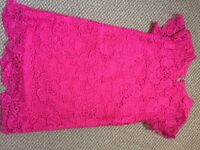 Girls pink dress age 8-9