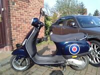 2005 Piaggio Vespa LX 50 automatic scooter, new 12 months MOT, de-restricted, 2 stroke, does 45mph,,