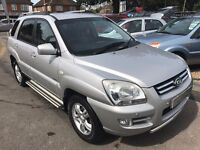 2005/05 KIA SPORTAGE 2.0 CRDI XS,5 DOOR,SILVER,2 OWNERS,HIGH SPEC,GREAT LOOKS+DRIVES WELL