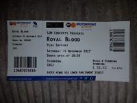 Royal Blood Ticket Nottingham Motorpoint Arena - 25/11/17