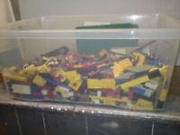 Lego bricks. Large quantity of vintage Lego circa 1975 to 1980