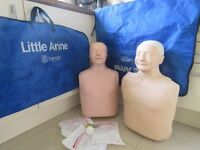 2 Laerdal Little Anne Resus CPR Manikins