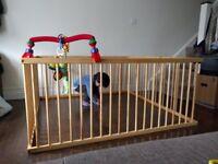 Large wooden playpen 150 x 150 cm