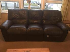 3+2 leather reclining sofas