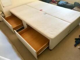 Double duvan bed with 4 draws