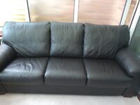 DFS Leather Sofa Bed
