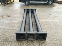 Cast iron uprights or posts