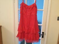 5 ITEMS OF CLOTHING, 3 DRESSES, 1 BLOUSE, 1 STRAPY TOP - £8- TO BE COLLECTED - NARBOROUGH, LEICS.