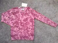 BNWT pink patterned knitwear jumper, from Debenhams, size 14.