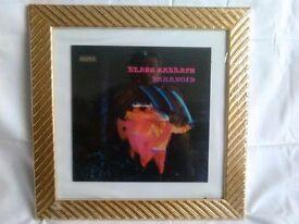 Black Sabbath Paranoid LP framed