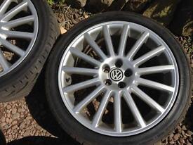 Volkswagen Golf MK4 R32 Alloy Wheels Genuine 18inch Aristos