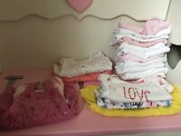 Huge bundle of baby girls clothes, newborn, 0-3 and 3-6