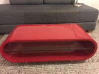 Contemporary Gloss Red Oval Designer Coffee table